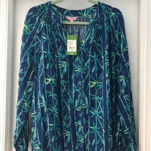 NWOT Lilly Pulitzer Elsa Button Down Bamboo Shirt